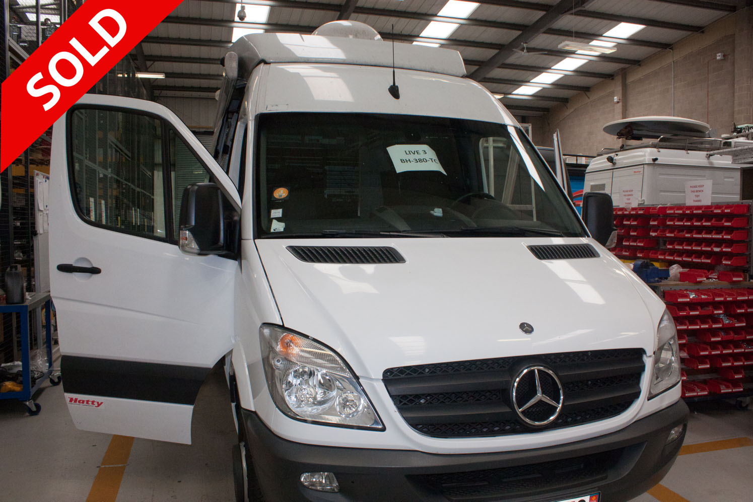 Mercedes 519D Left hand drive KU Band HD DSNG/OB with 1.8m Antenna -  3 Camera SOLD